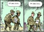Cartoonist Mike Luckovich  Mike Luckovich's Editorial Cartoons 2011-12-15 Iraq war