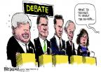 Cartoonist Mike Luckovich  Mike Luckovich's Editorial Cartoons 2012-01-20 debate