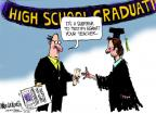 Cartoonist Mike Luckovich  Mike Luckovich's Editorial Cartoons 2012-04-01 graduation