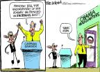 Cartoonist Mike Luckovich  Mike Luckovich's Editorial Cartoons 2012-05-17 George W. Bush