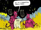 Cartoonist Mike Luckovich  Mike Luckovich's Editorial Cartoons 2012-07-06 climate