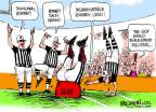 Cartoonist Mike Luckovich  Mike Luckovich's Editorial Cartoons 2012-09-28 football strike