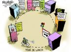 Cartoonist Mike Luckovich  Mike Luckovich's Editorial Cartoons 2012-10-11 bicycle