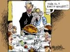 Cartoonist Mike Luckovich  Mike Luckovich's Editorial Cartoons 2012-11-21 Thanksgiving tradition