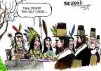 Cartoonist Mike Luckovich  Mike Luckovich's Editorial Cartoons 2012-11-22 Thanksgiving tradition