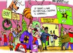 Cartoonist Mike Luckovich  Mike Luckovich's Editorial Cartoons 2012-12-09 Christmas marketing