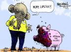 Cartoonist Mike Luckovich  Mike Luckovich's Editorial Cartoons 2012-12-14 anti-tax