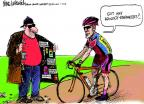 Cartoonist Mike Luckovich  Mike Luckovich's Editorial Cartoons 2013-01-15 bicycle