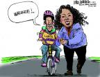 Cartoonist Mike Luckovich  Mike Luckovich's Editorial Cartoons 2013-01-18 bicycle