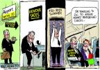 Cartoonist Mike Luckovich  Mike Luckovich's Editorial Cartoons 2013-03-05 shoe