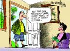Cartoonist Mike Luckovich  Mike Luckovich's Editorial Cartoons 2013-04-11 golf club