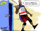 Cartoonist Mike Luckovich  Mike Luckovich's Editorial Cartoons 2013-04-30 basketball