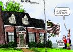 Cartoonist Mike Luckovich  Mike Luckovich's Editorial Cartoons 2013-05-30 half mast flag