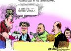 Cartoonist Mike Luckovich  Mike Luckovich's Editorial Cartoons 2013-11-21 Thanksgiving