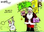 Cartoonist Mike Luckovich  Mike Luckovich's Editorial Cartoons 2013-12-11 Christmas shopping
