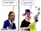Cartoonist Mike Luckovich  Mike Luckovich's Editorial Cartoons 2014-02-18 defense