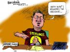 Cartoonist Mike Luckovich  Mike Luckovich's Editorial Cartoons 2014-05-09 basketball