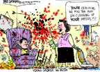 Cartoonist Mike Luckovich  Mike Luckovich's Editorial Cartoons 2015-04-28 George W. Bush