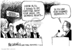 Cartoonist Mike Luckovich  Mike Luckovich's Editorial Cartoons 2005-11-01 supreme court decision