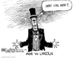 Cartoonist Mike Luckovich  Mike Luckovich's Editorial Cartoons 2006-03-08 civil war