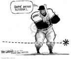 Cartoonist Mike Luckovich  Mike Luckovich's Editorial Cartoons 2006-03-09 muscle