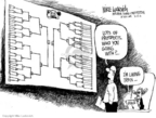 Cartoonist Mike Luckovich  Mike Luckovich's Editorial Cartoons 2006-03-17 basketball