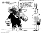Cartoonist Mike Luckovich  Mike Luckovich's Editorial Cartoons 2006-05-02 gas price increase