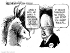 Cartoonist Mike Luckovich  Mike Luckovich's Editorial Cartoons 2006-08-13 Dick Cheney Iraq