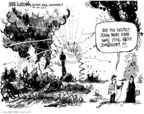 Cartoonist Mike Luckovich  Mike Luckovich's Editorial Cartoons 2006-08-31 Iraq sectarian violence