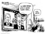 Cartoonist Mike Luckovich  Mike Luckovich's Editorial Cartoons 2007-02-28 media bias