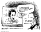 Cartoonist Mike Luckovich  Mike Luckovich's Editorial Cartoons 2007-03-19 baseball