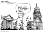 Cartoonist Mike Luckovich  Mike Luckovich's Editorial Cartoons 2007-04-08 civil war