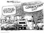 Cartoonist Mike Luckovich  Mike Luckovich's Editorial Cartoons 2007-05-30 graduation