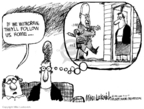 Cartoonist Mike Luckovich  Mike Luckovich's Editorial Cartoons 2007-07-10 Dick Cheney Iraq
