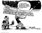 Cartoonist Mike Luckovich  Mike Luckovich's Editorial Cartoons 2007-07-24 muscle