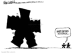 Cartoonist Mike Luckovich  Mike Luckovich's Editorial Cartoons 2007-08-09 muscle