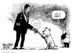 Cartoonist Mike Luckovich  Mike Luckovich's Editorial Cartoons 2007-08-28 shake hands