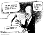 Cartoonist Mike Luckovich  Mike Luckovich's Editorial Cartoons 2007-10-10 Richard Nixon
