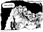 Cartoonist Mike Luckovich  Mike Luckovich's Editorial Cartoons 2008-01-25 Dick Cheney Iraq