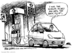 Cartoonist Mike Luckovich  Mike Luckovich's Editorial Cartoons 2008-03-08 gas price increase