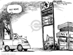 Cartoonist Mike Luckovich  Mike Luckovich's Editorial Cartoons 2008-04-16 gas price increase
