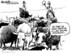 Cartoonist Mike Luckovich  Mike Luckovich's Editorial Cartoons 2008-04-20 cattle