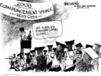 Cartoonist Mike Luckovich  Mike Luckovich's Editorial Cartoons 2008-05-06 graduation