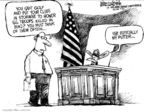 Cartoonist Mike Luckovich  Mike Luckovich's Editorial Cartoons 2008-05-16 honor