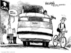 Cartoonist Mike Luckovich  Mike Luckovich's Editorial Cartoons 2008-06-10 bicycle