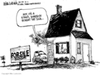 Cartoonist Mike Luckovich  Mike Luckovich's Editorial Cartoons 2008-08-01 real estate