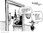 Cartoonist Mike Luckovich  Mike Luckovich's Editorial Cartoons 2008-08-15 John McCain