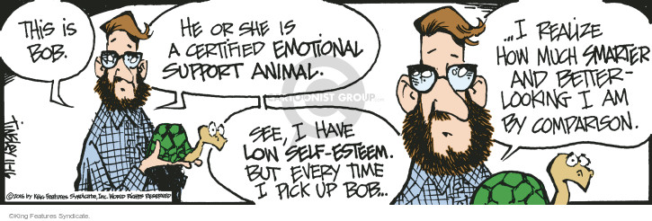 Image of: Meme He Or She Is Certified Emotional Support Animal See Study Breaks Magazine Mallard Fillmore At Cartoonistgroupcom Cartoon View And Uses