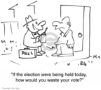 Cartoonist Rex May  Rex May Gag Cartoons 2007-06-15 voter