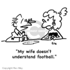 Cartoonist Rex May  Rex May Gag Cartoons 2008-01-19 football